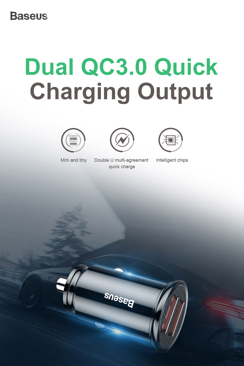 baseus bs-c16q1 30w car charger
