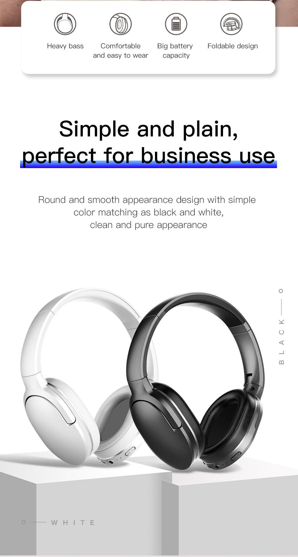 Baseus D02 Foldable Wireless Headphone Presents More Beautiful Sound