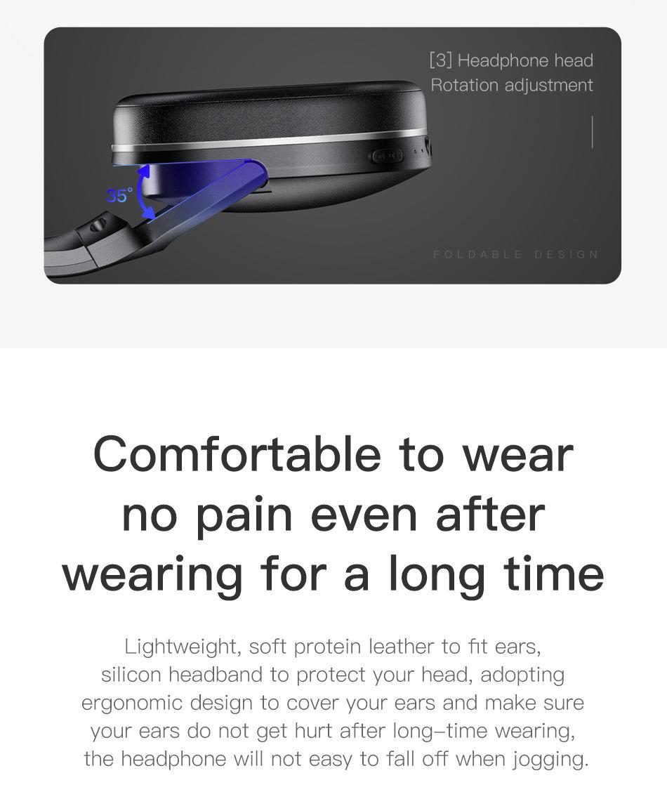 baseus d02 foldable bluetooth headphones for sale
