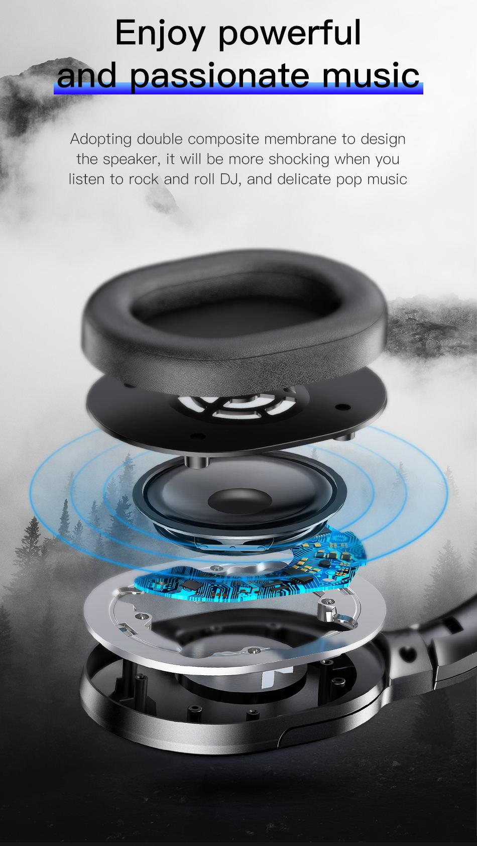 502a687f999 Baseus D02 Foldable Wireless Headphones Bluetooth 5.0   GearVita