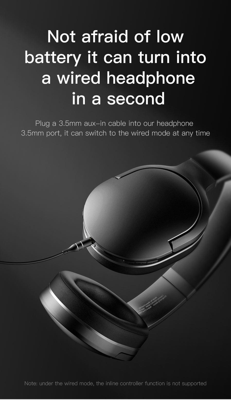 new baseus d02 bluetooth headphones