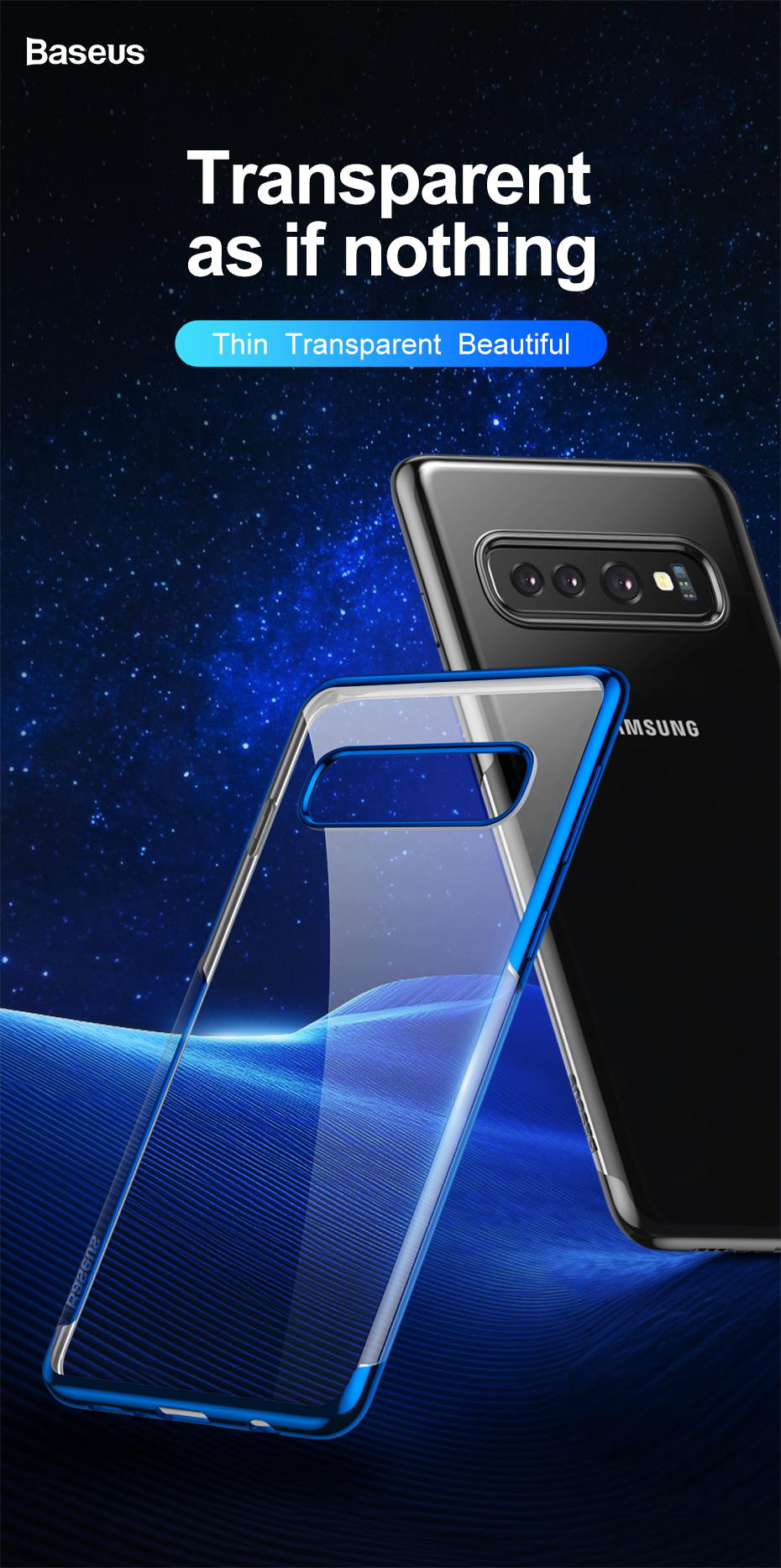 baseus luxury phone case for samsung s10 s10 plus