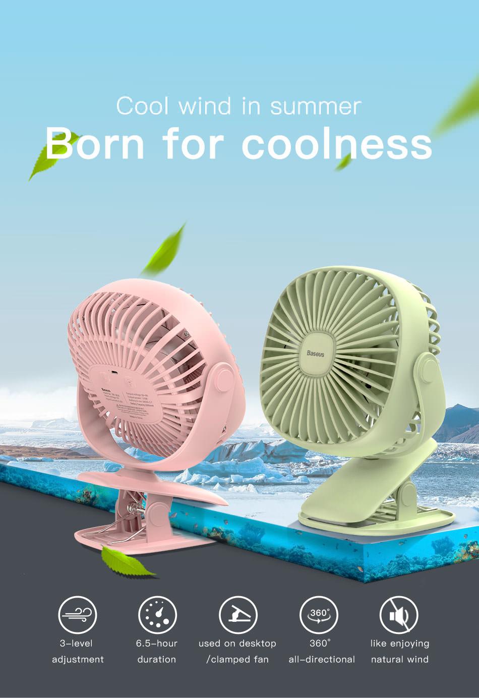 buy baseus mini box clamping fan