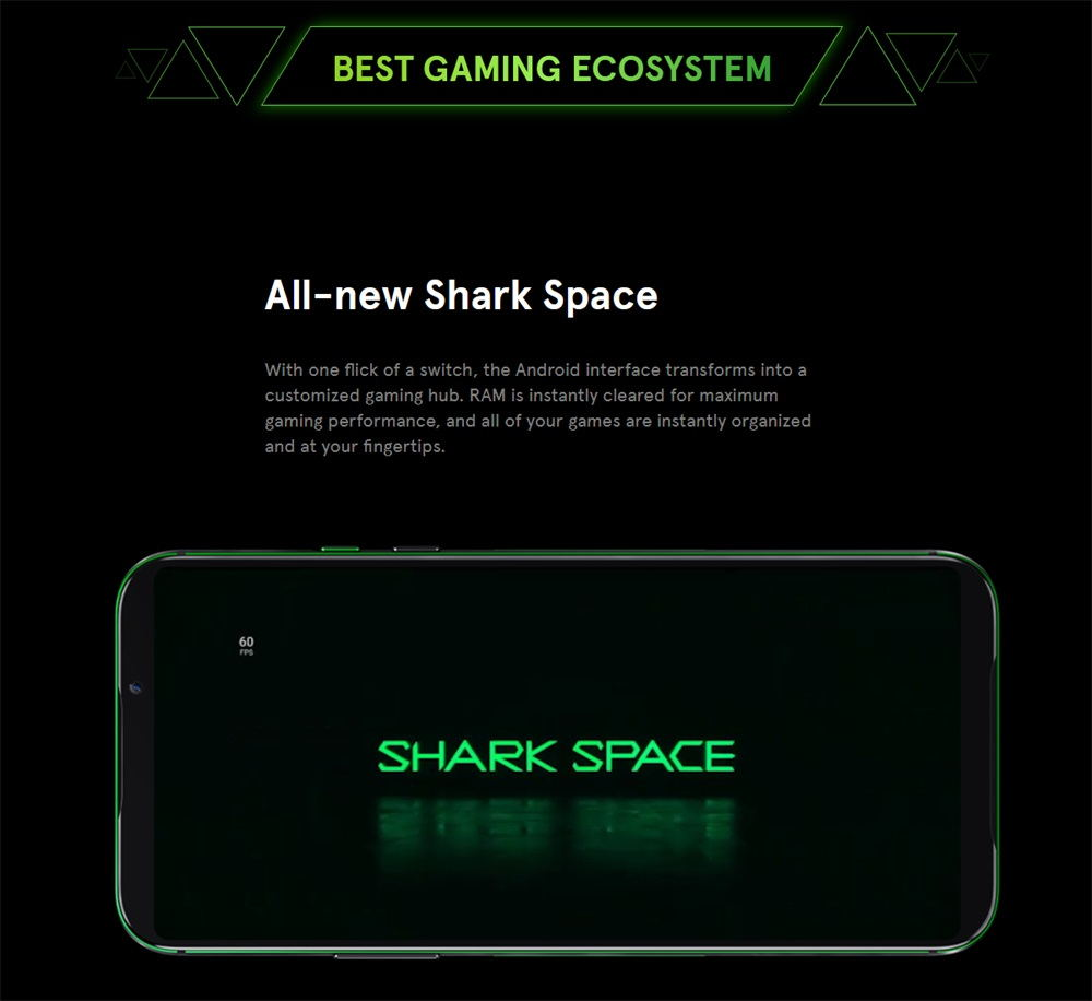 black shark 2 smartphone 8gb/128gb global version 2019