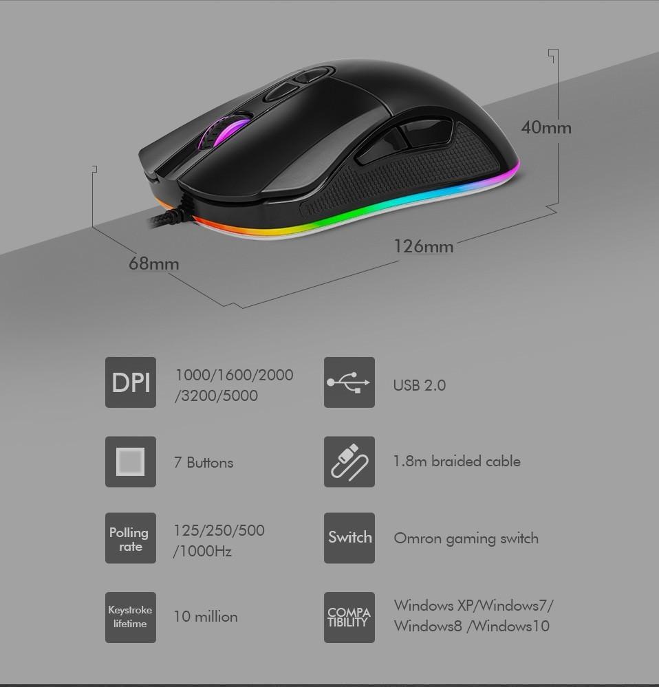 delux m626 rgb mouse