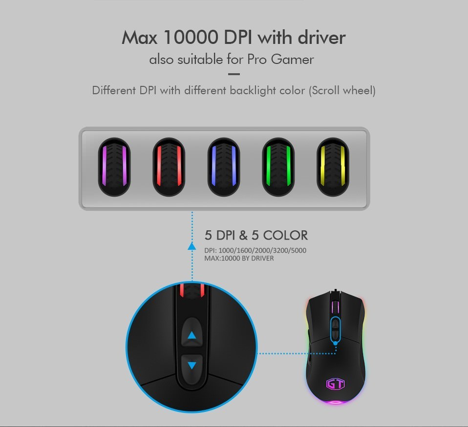 delux m626 gaming mouse
