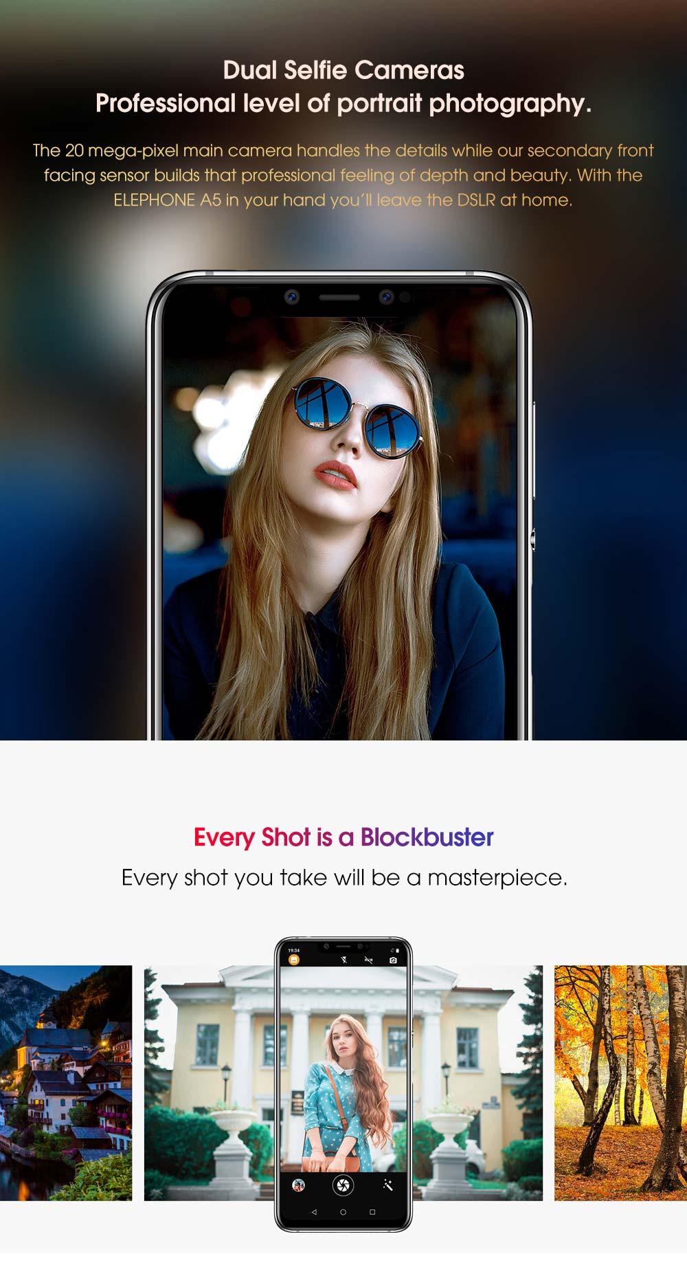 2019 elephone a5 smartphone 6gb/128gb