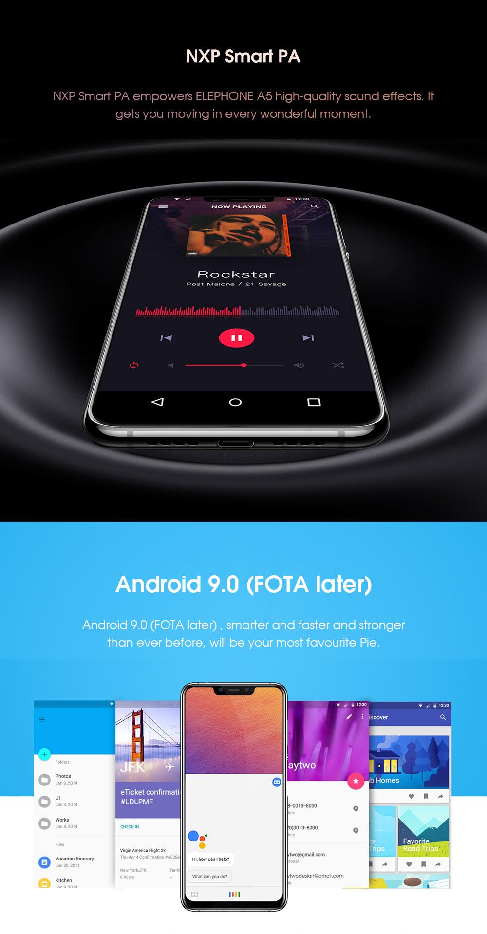 elephone a5 6gb/128gb global version