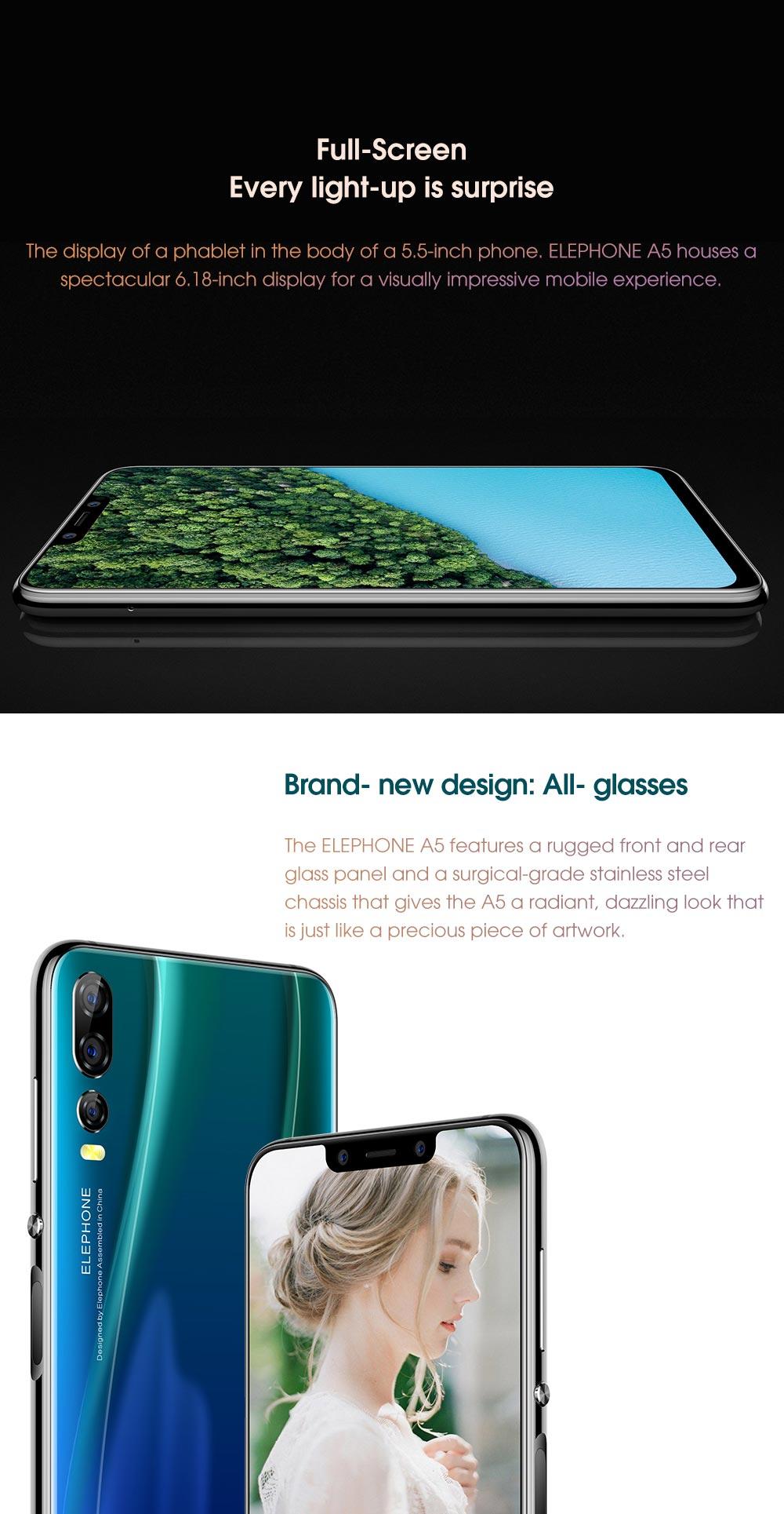 new elephone a5 4g smartphone 6gb/128gb