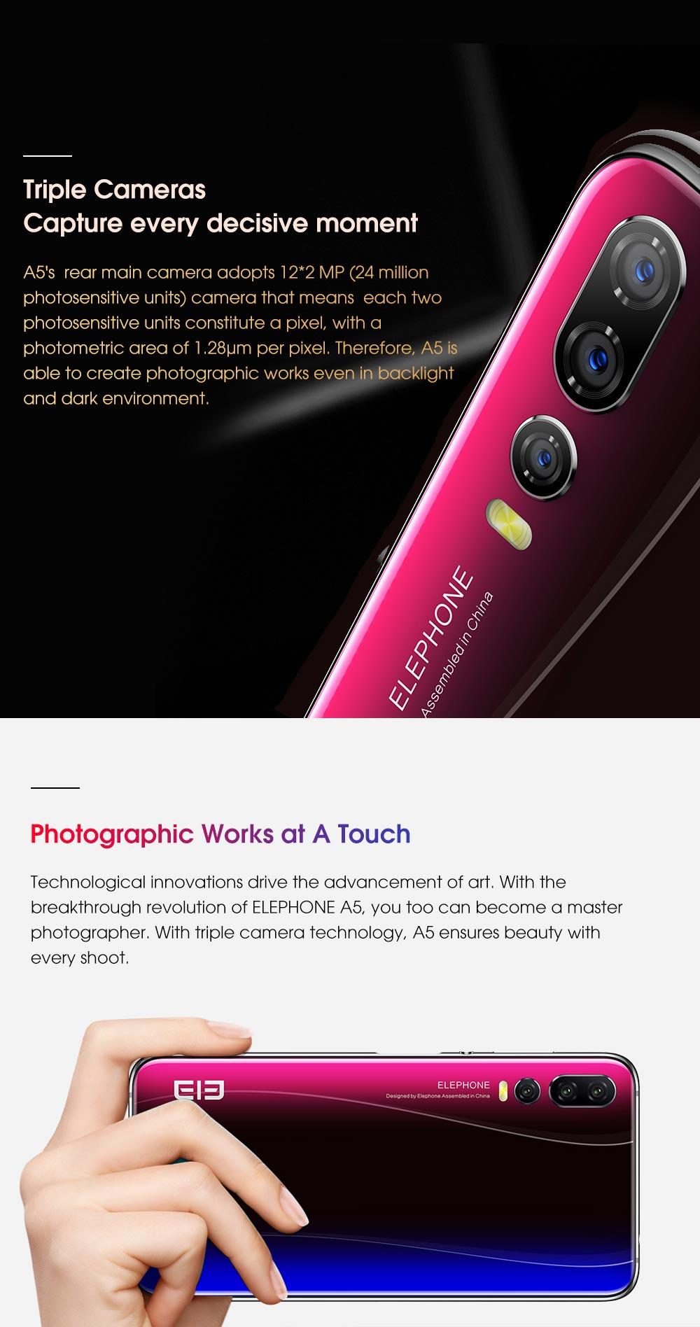buy elephone a5 smartphone 6gb/128gb