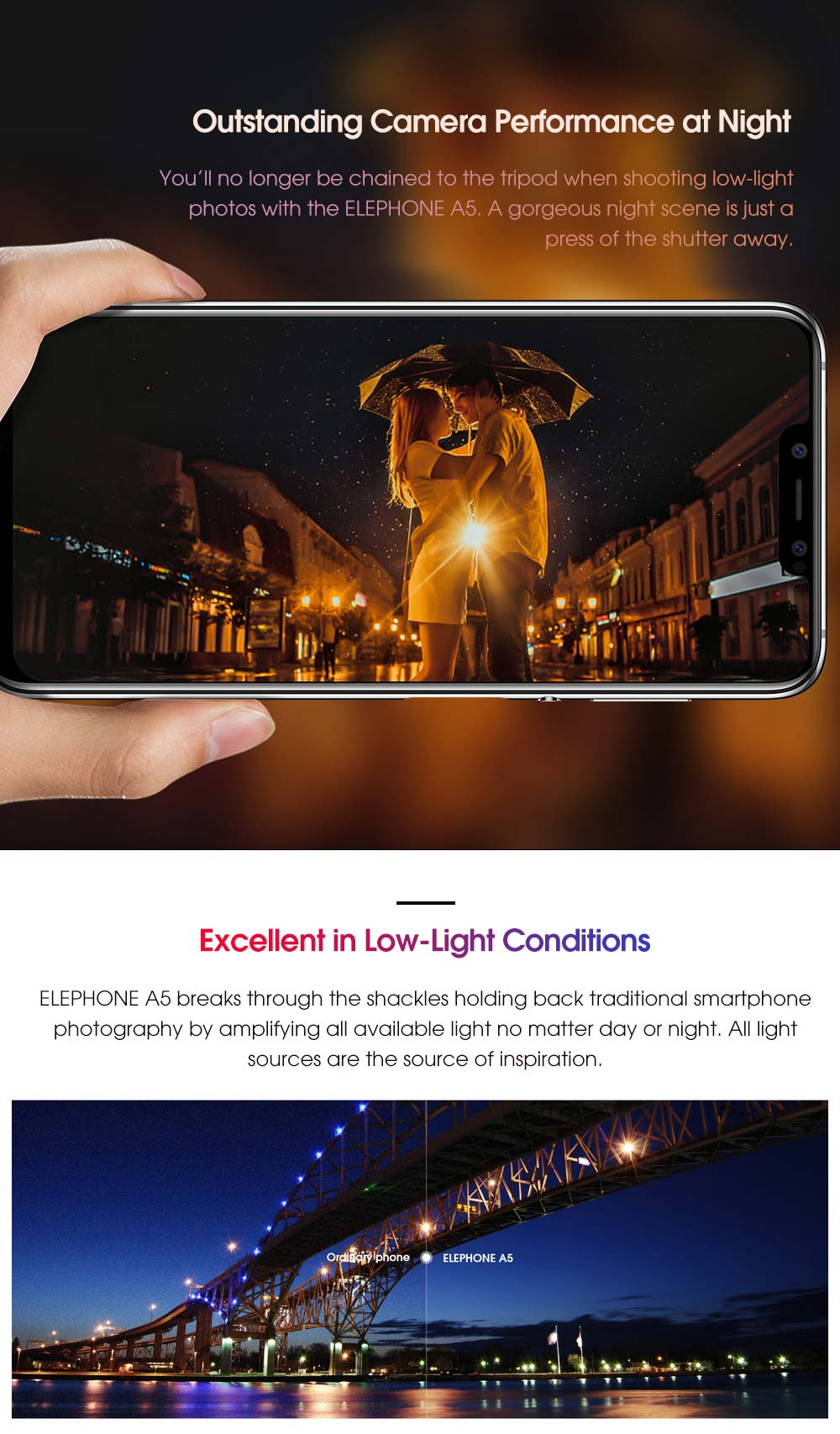 elephone a5 smartphone 6gb/128gb for sale