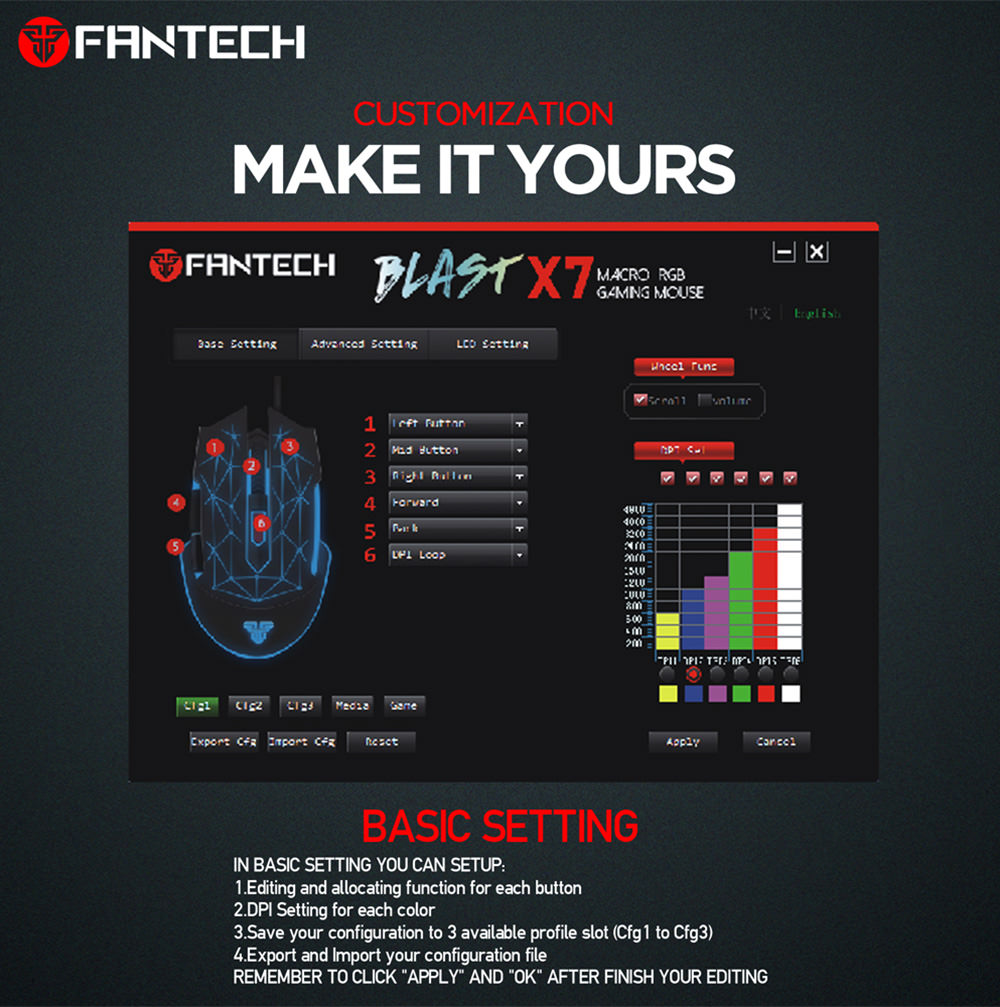fantech x7 gaming mouse
