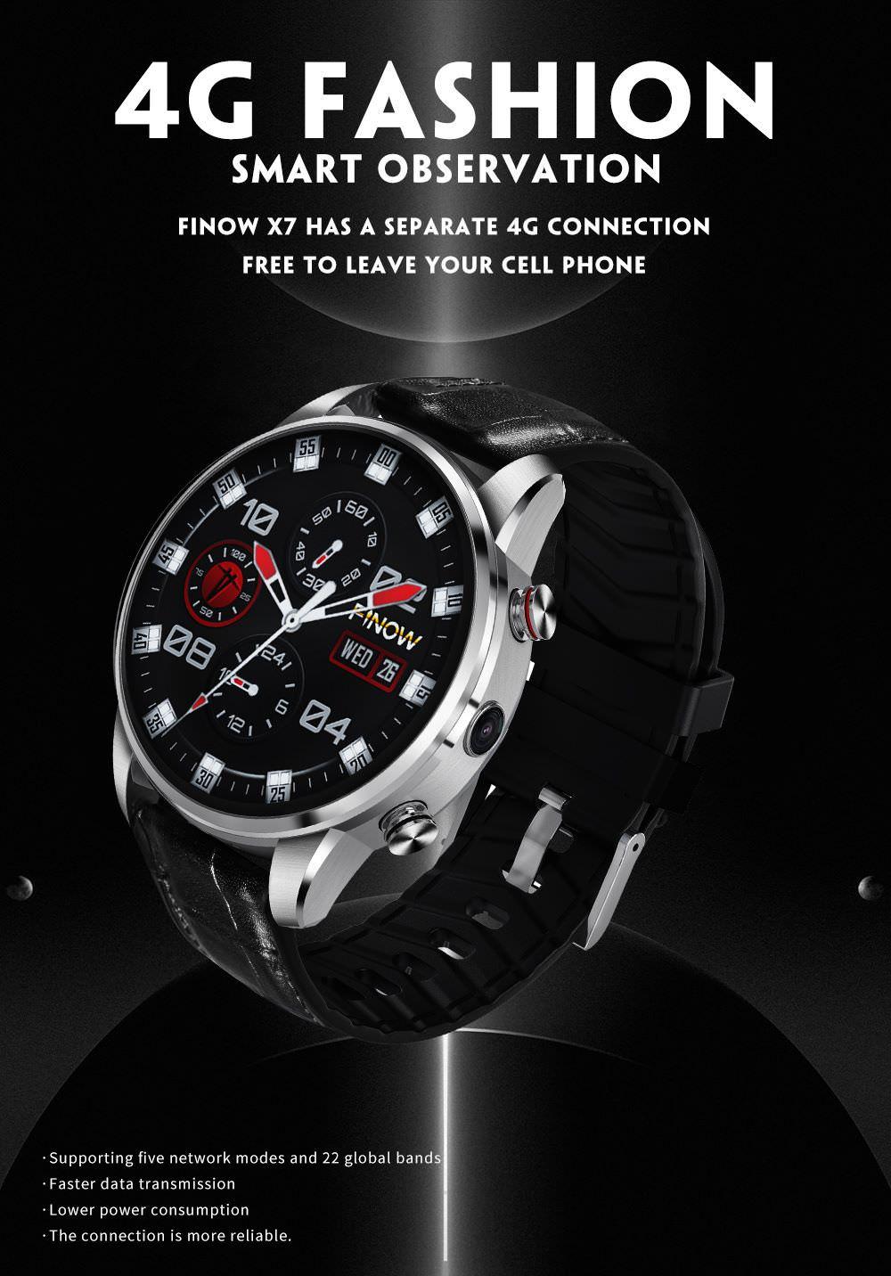 finow x7 4g smartwatch phone