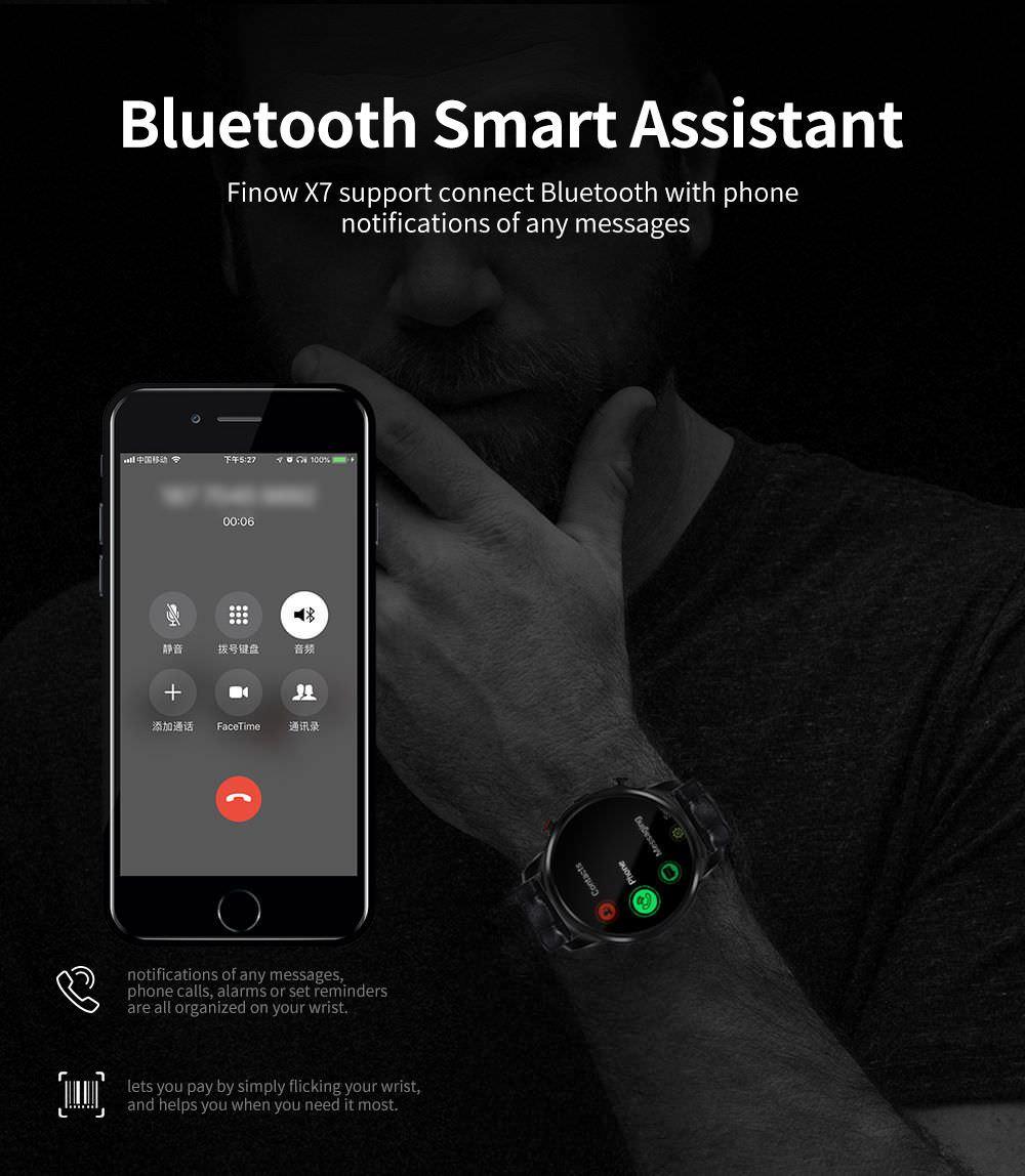 new finow x7 smartwatch