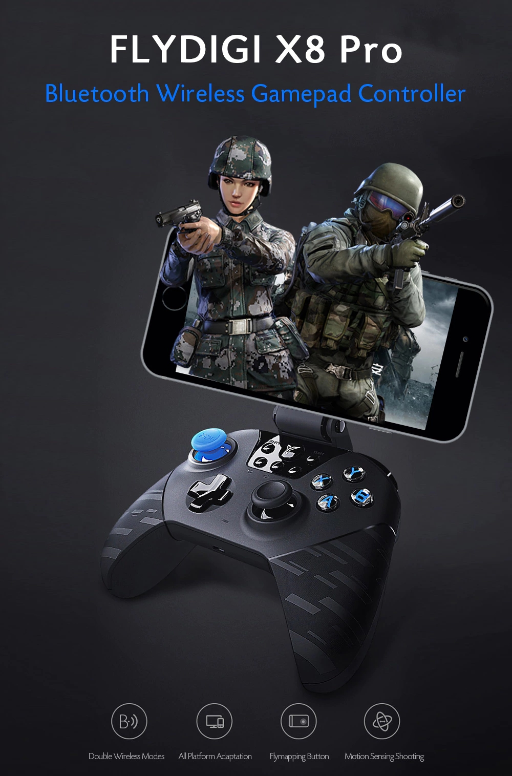xiaomi flydigi black warrior x8 pro game controller