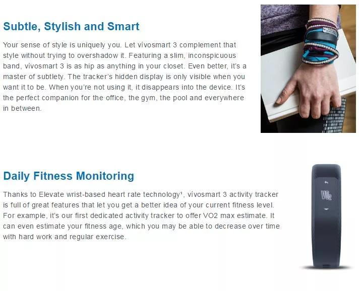 buy garmin vivosmart 3 smart wristband