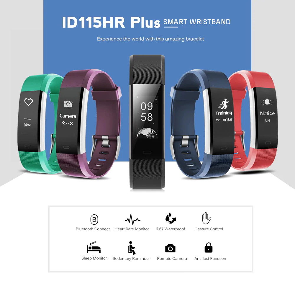 id115hr plus smart bracelet
