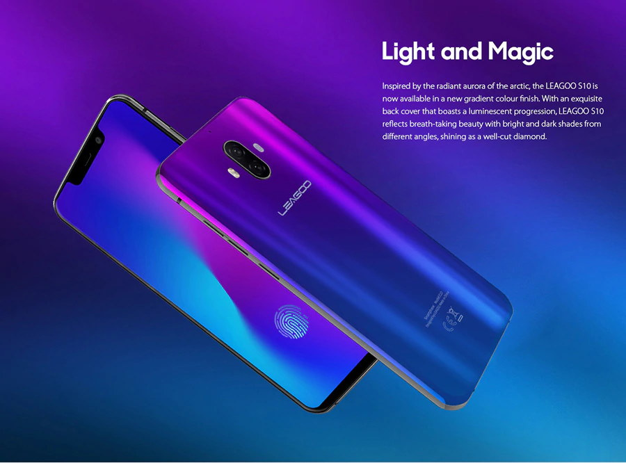 leagoo s10 fingerprint unlock smartphone