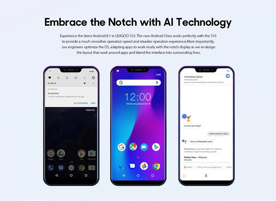 buy leagoo s10 fingerprint unlock smartphone