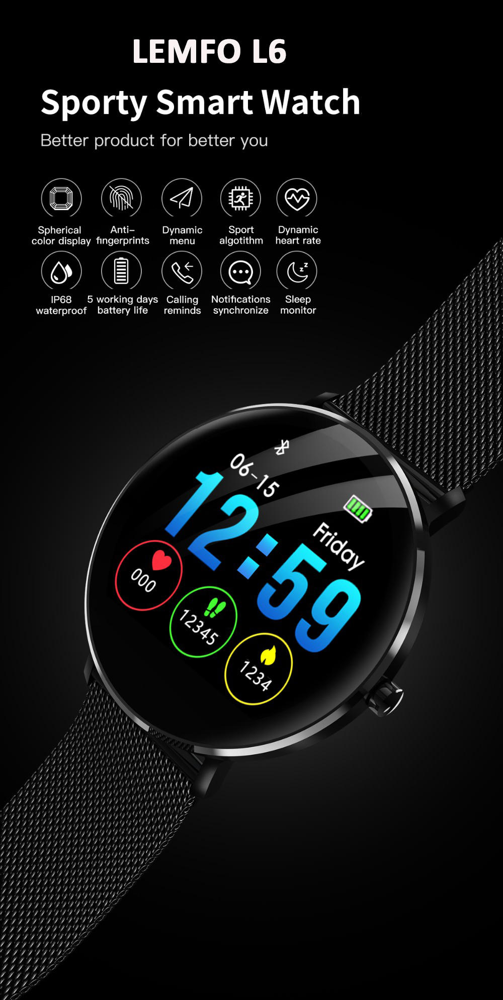 lemfo l6 sports smartwatch