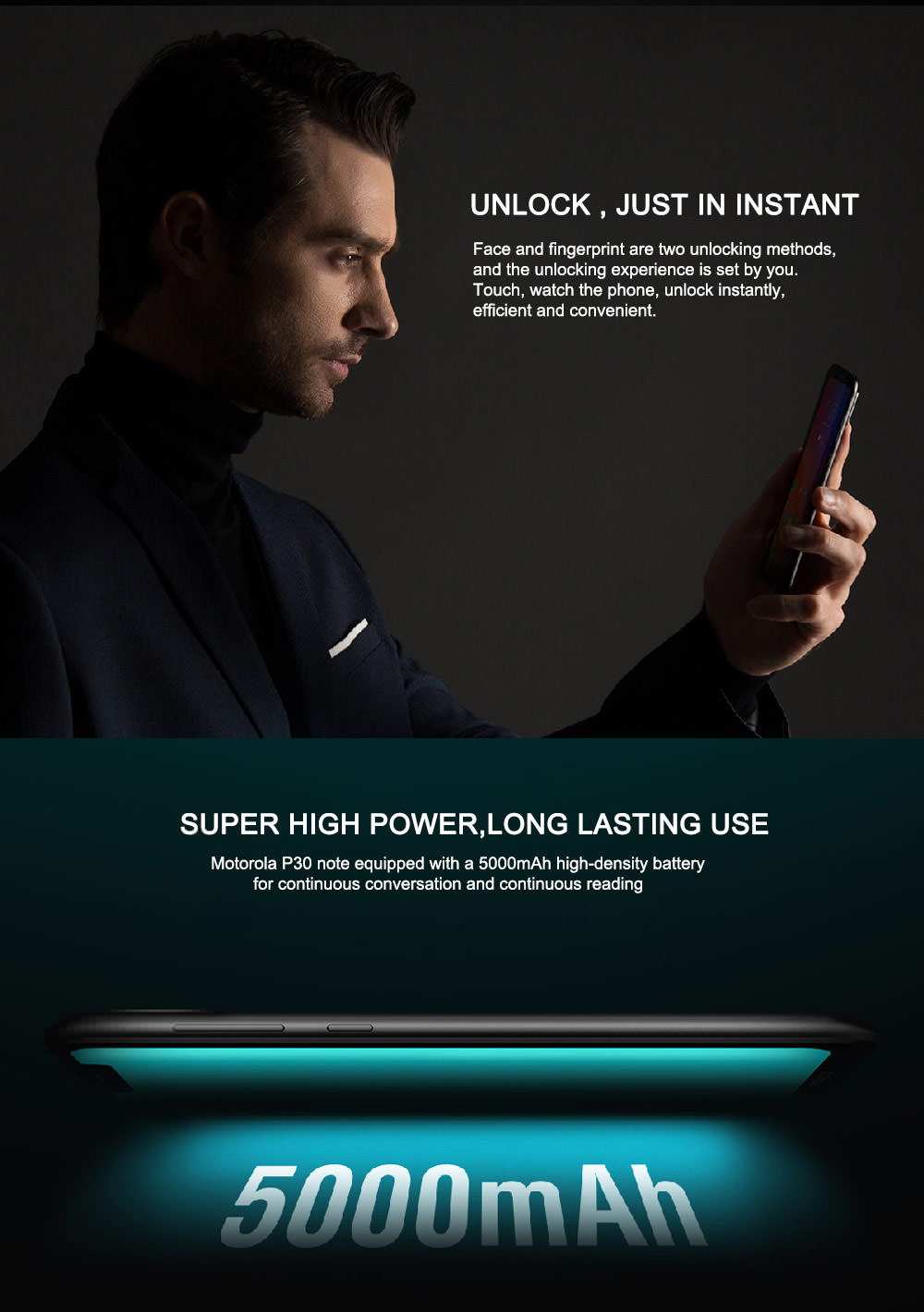 new lenovo moto p30 note smartphone international