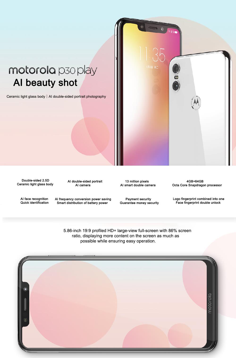 lenovo moto p30 play 4g smartphone