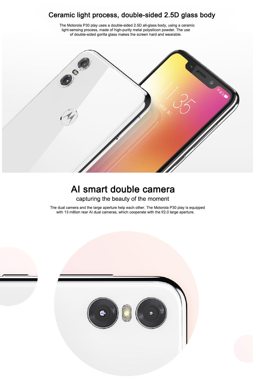 buy lenovo moto p30 play 4g smartphone