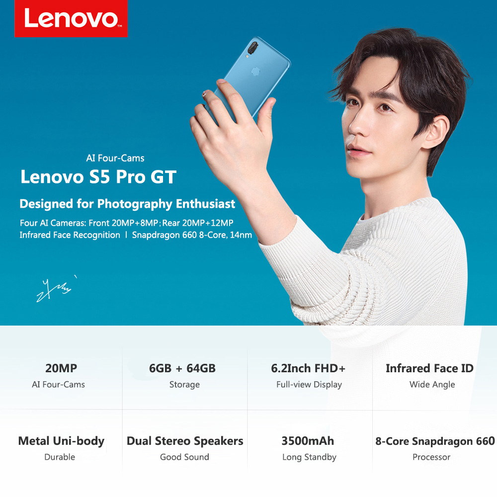 lenovo s5 pro gt 4g smartphone