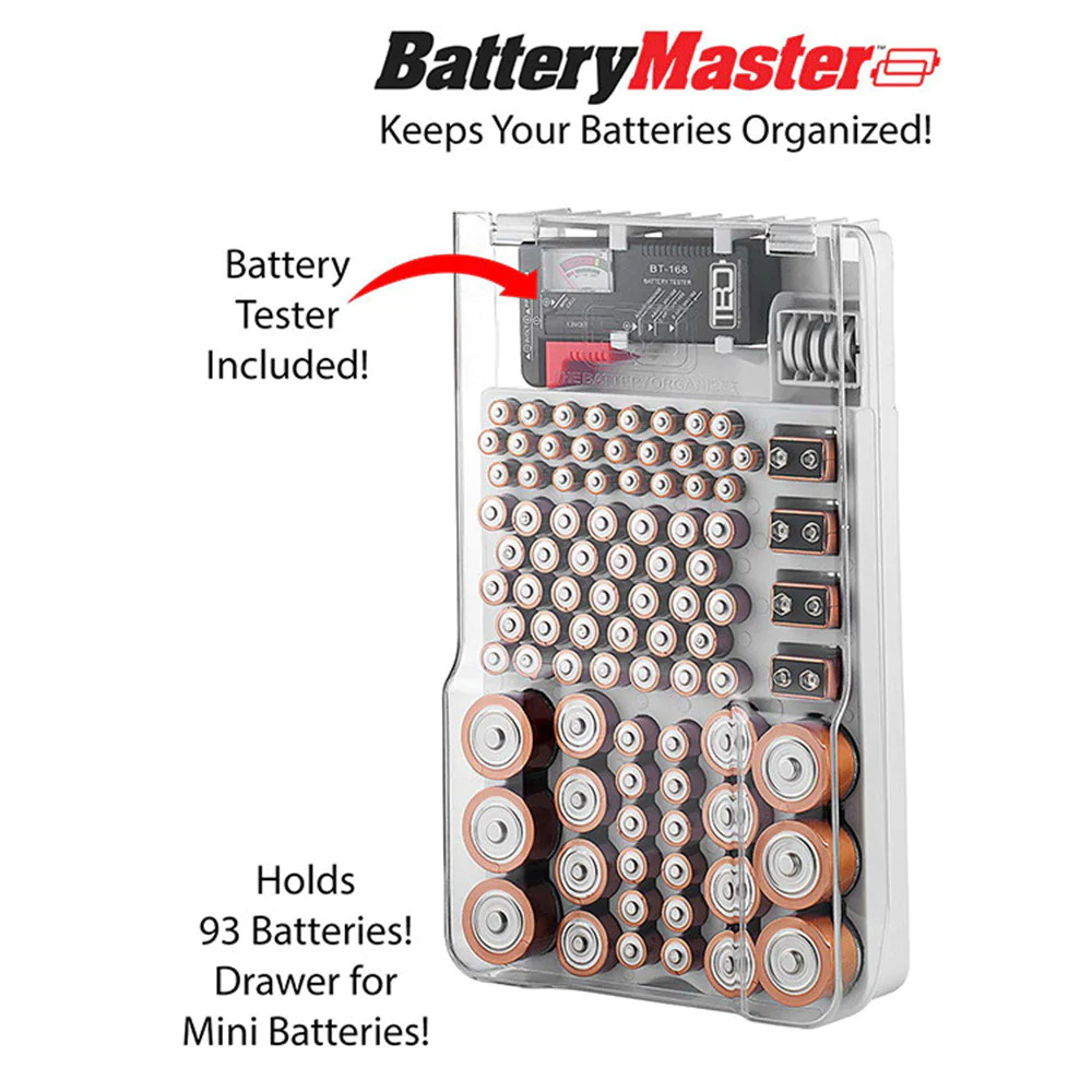 93 grids battery capacity tester storage box