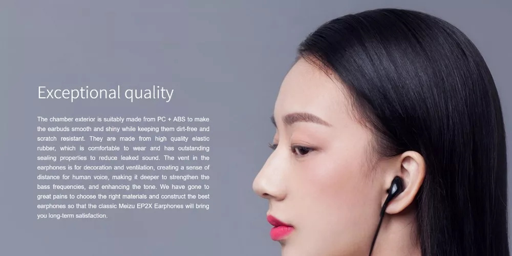 new meizu ep2x in-ear earphones