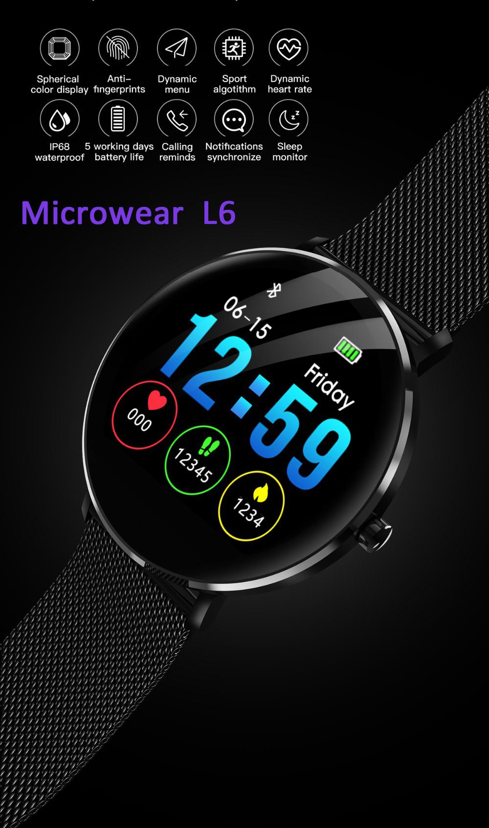 microwear l6 smartwatch
