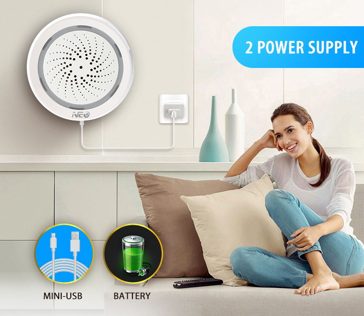 buy neo wifi siren alarm sensor smart alarm