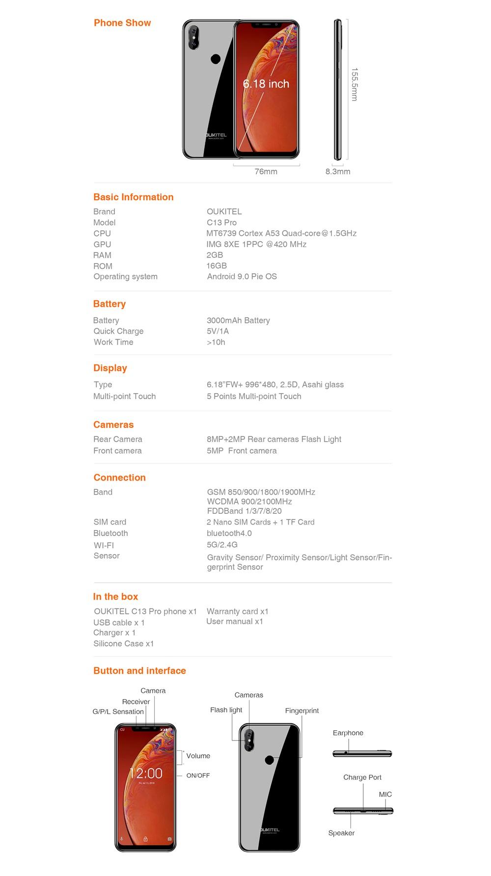 buy oukitel c13 pro online