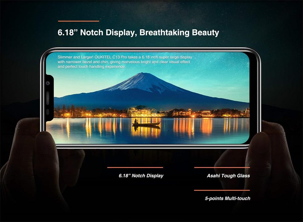 2019 oukitel c13 pro 4g smartphone
