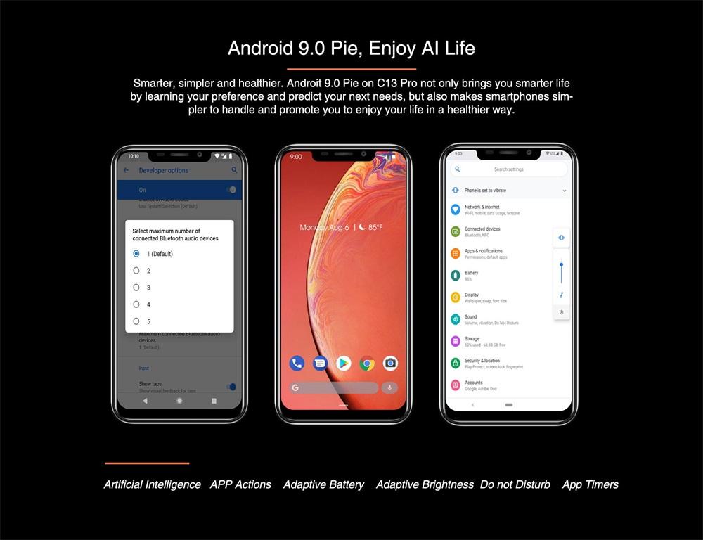 cheap oukitel c13 pro 4g smartphone