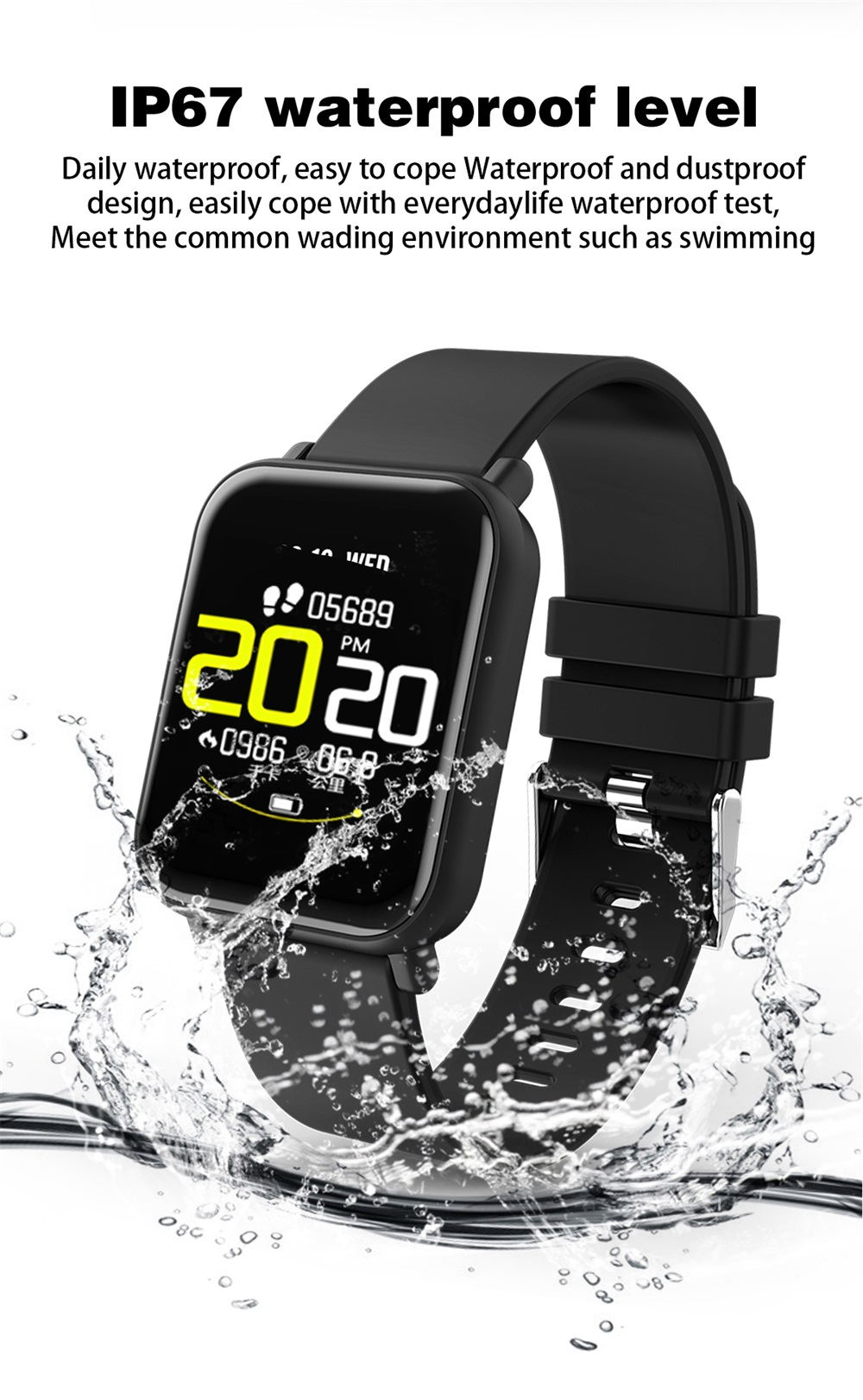 r6 waterproof smartwatch