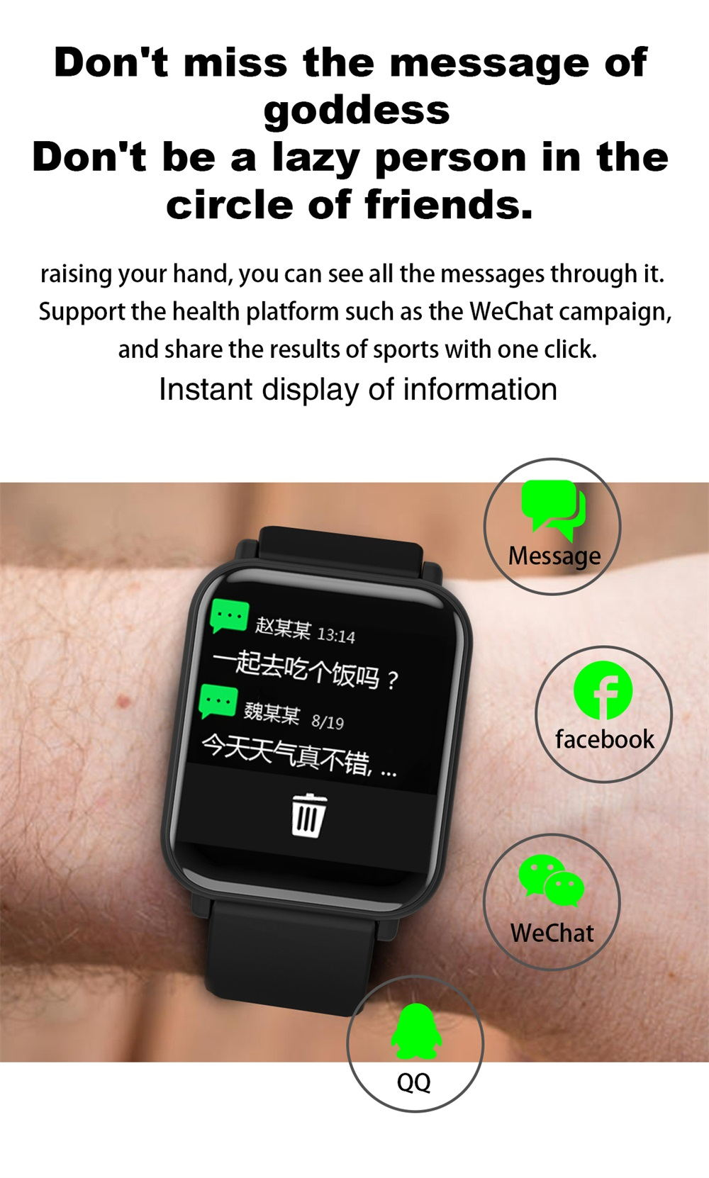 new r6 waterproof smartwatch