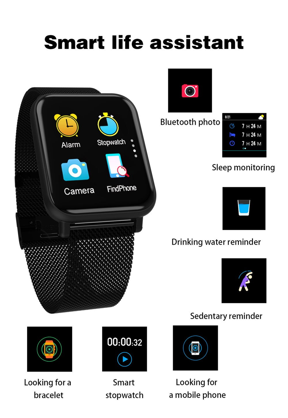 r6 tft full screen smartwatch