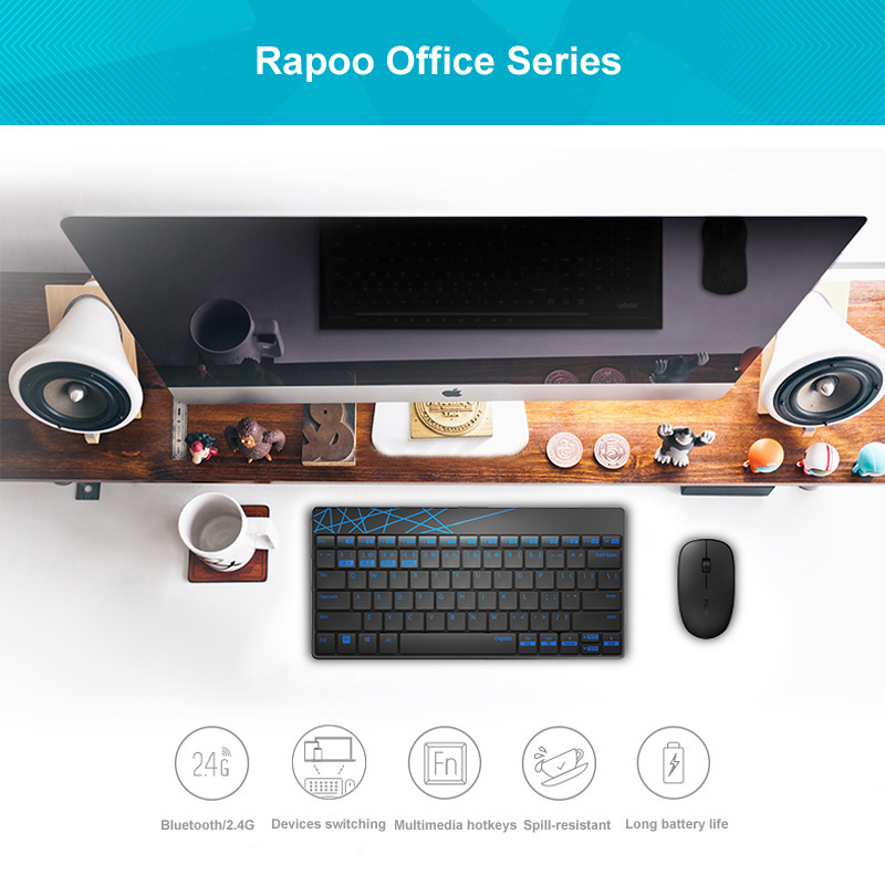 buy rapoo 8000m wireless keyboard and mouse combo set