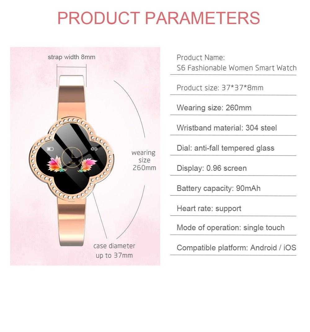 s6 smart women bracelet