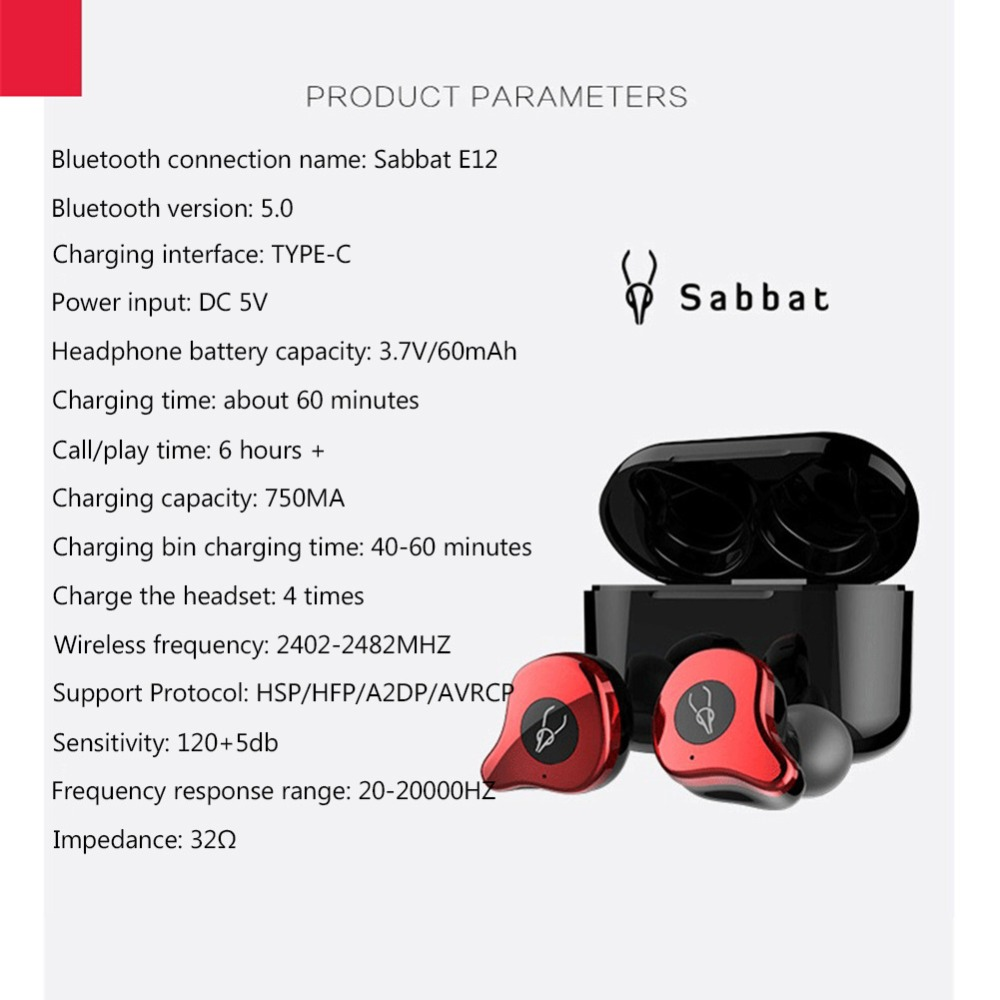 new sabbat e12 bluetooth earbuds