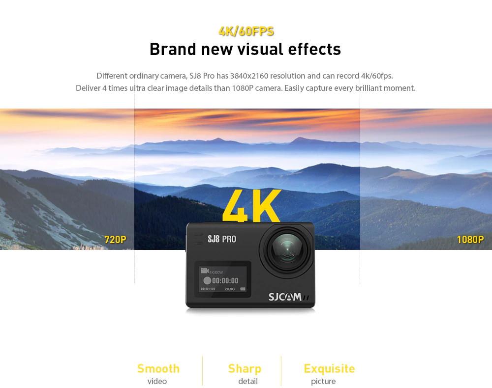 new sjcam sj8 pro action camera set