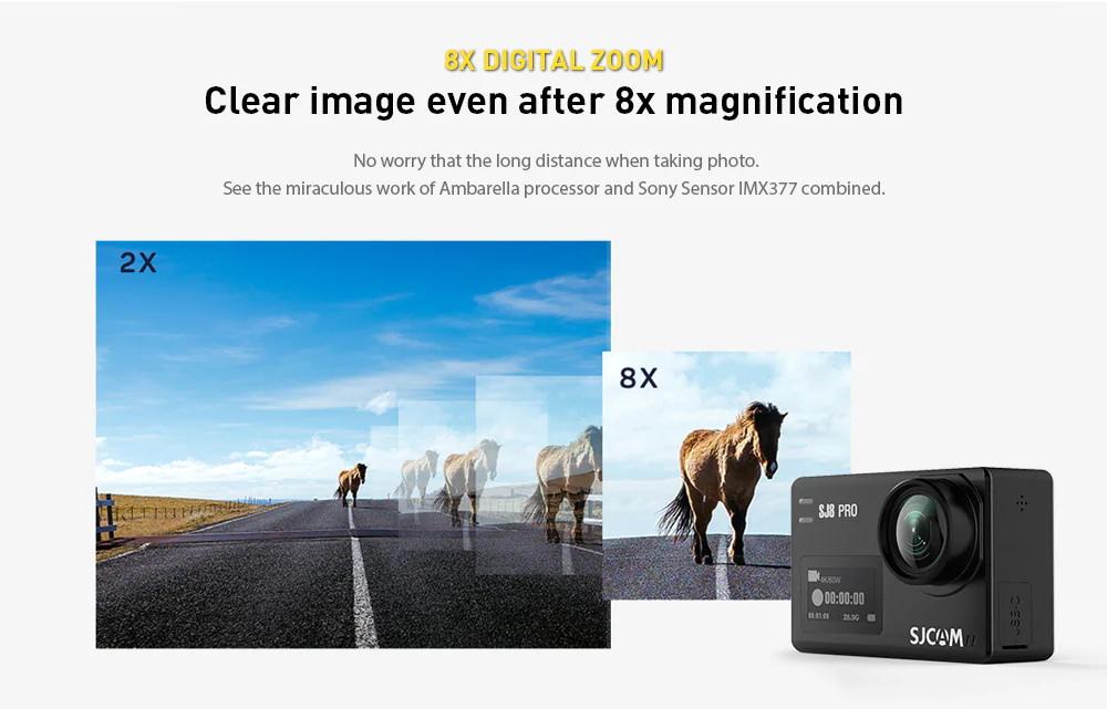 sjcam sj8 pro action camera full set