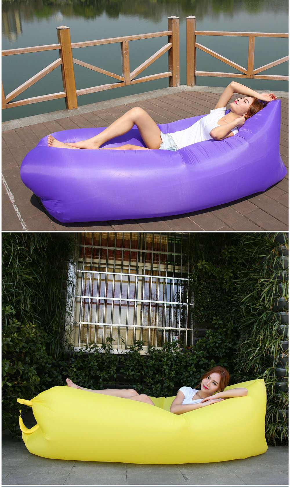 square-headed portable inflatable lazy sofa