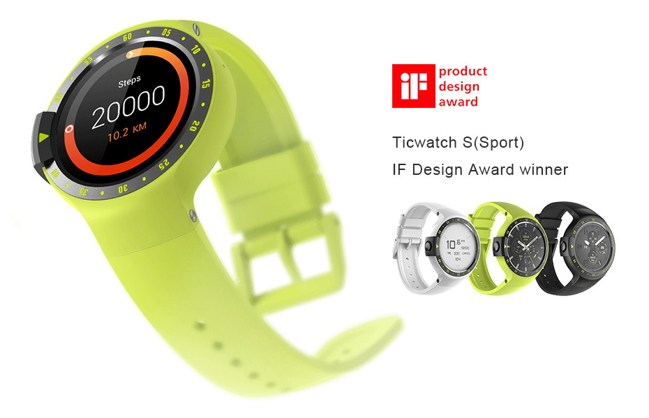ticwatch s bluetooth smartwatch for sale