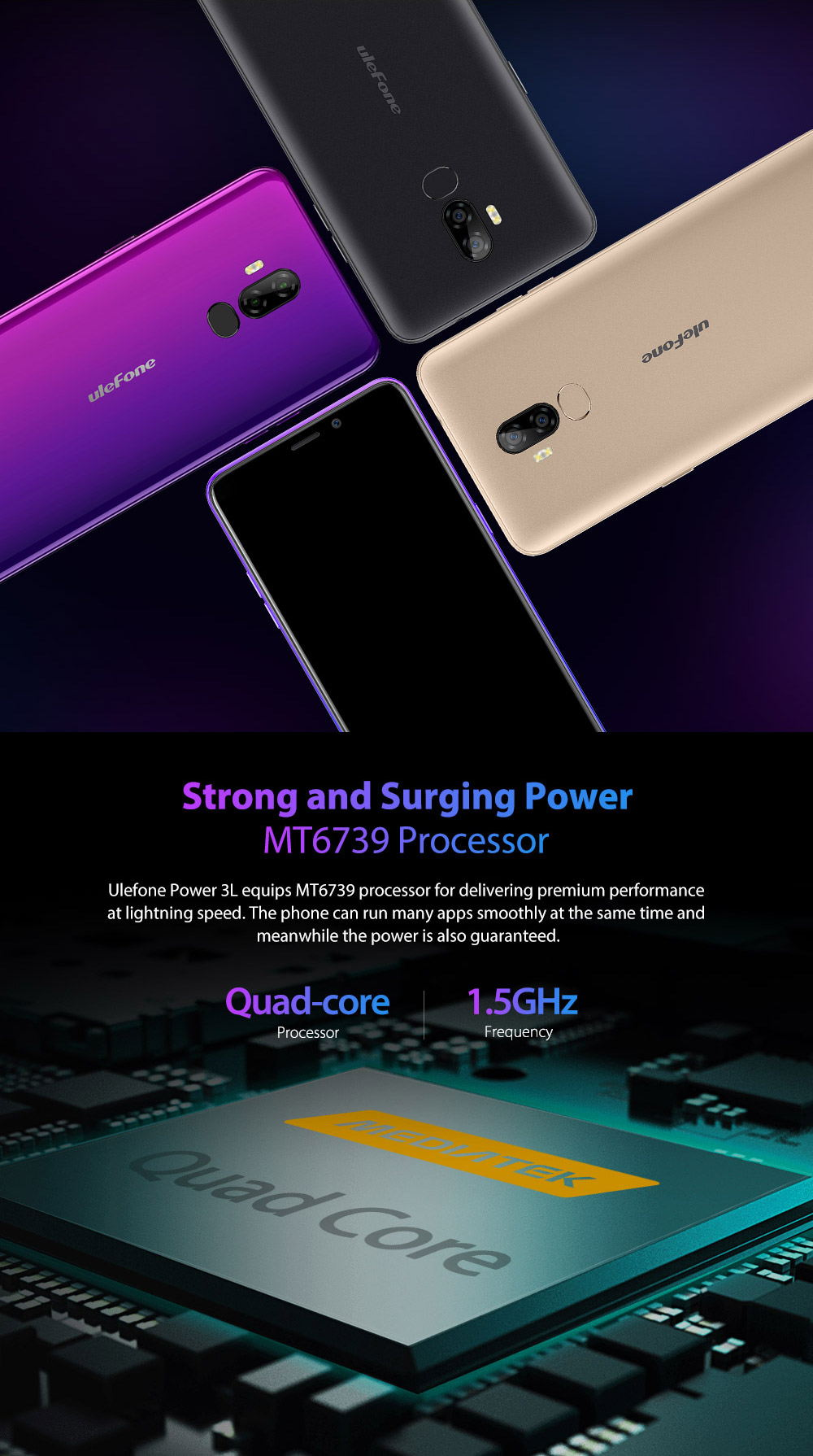cheap ulefone power 3l 4g smartphone