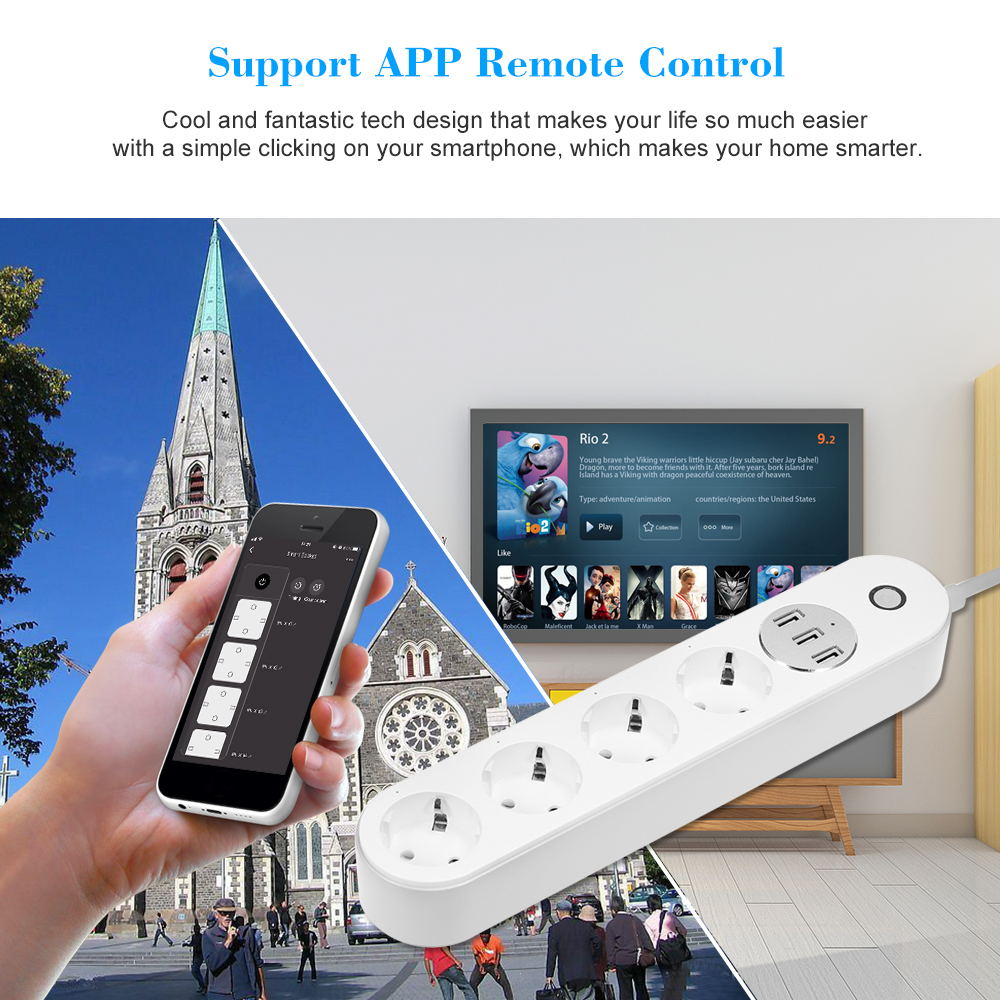 buy sa-p402a smart power strip socket