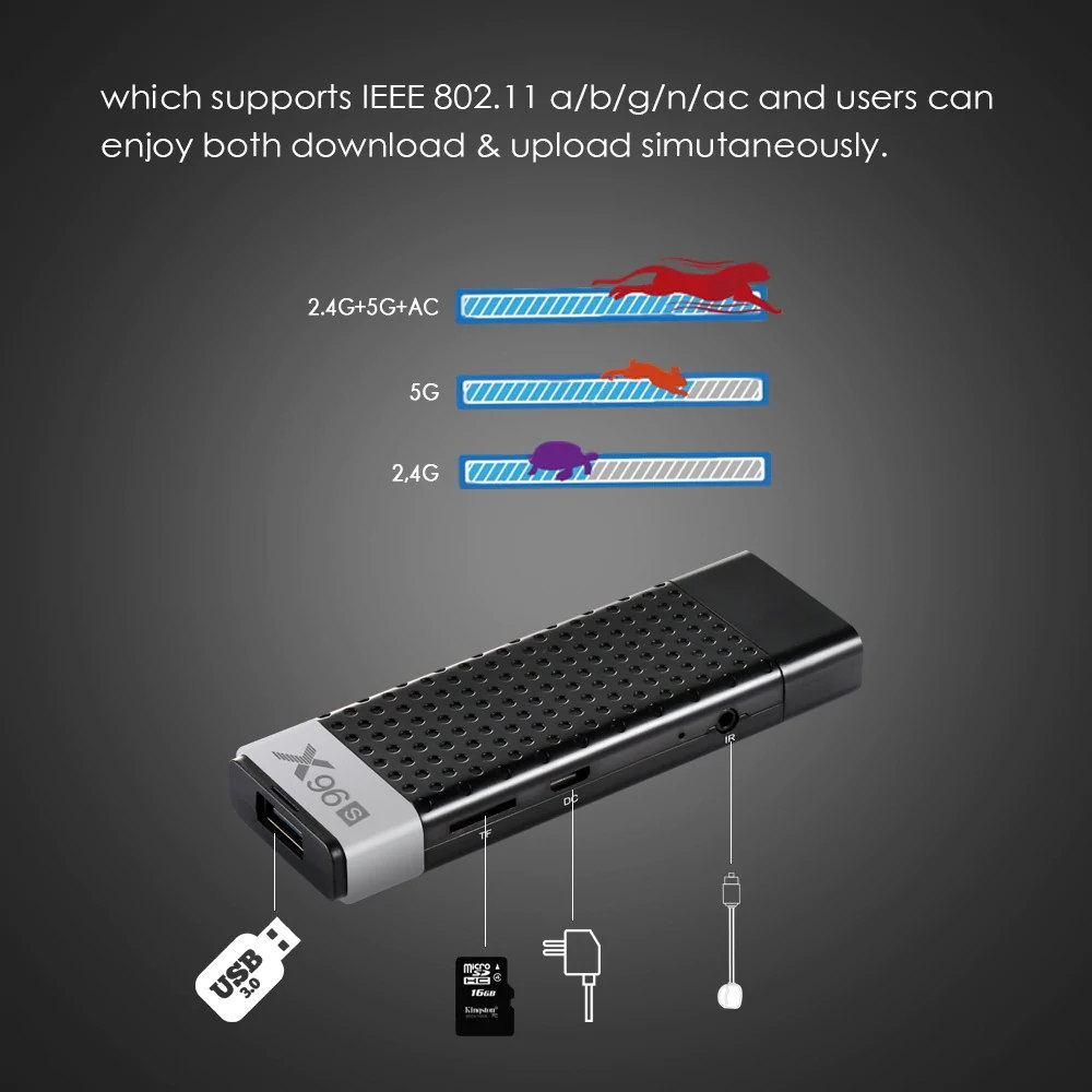 x96s smart android tv stick for sale