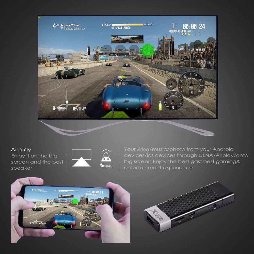 x96s android tv stick for sale