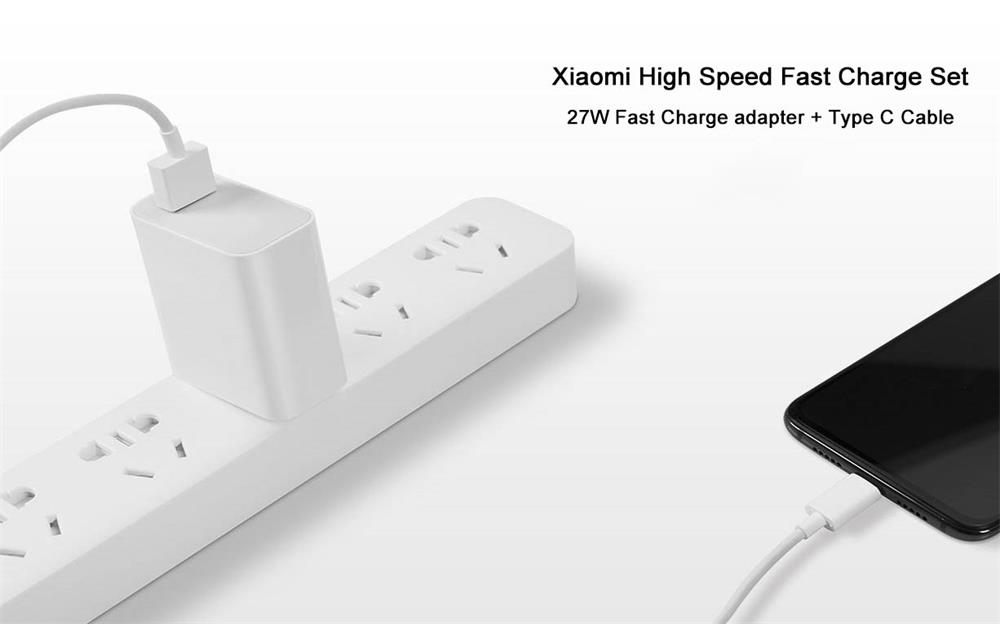 xiaomi high speed charger adapter type c cable set for sale